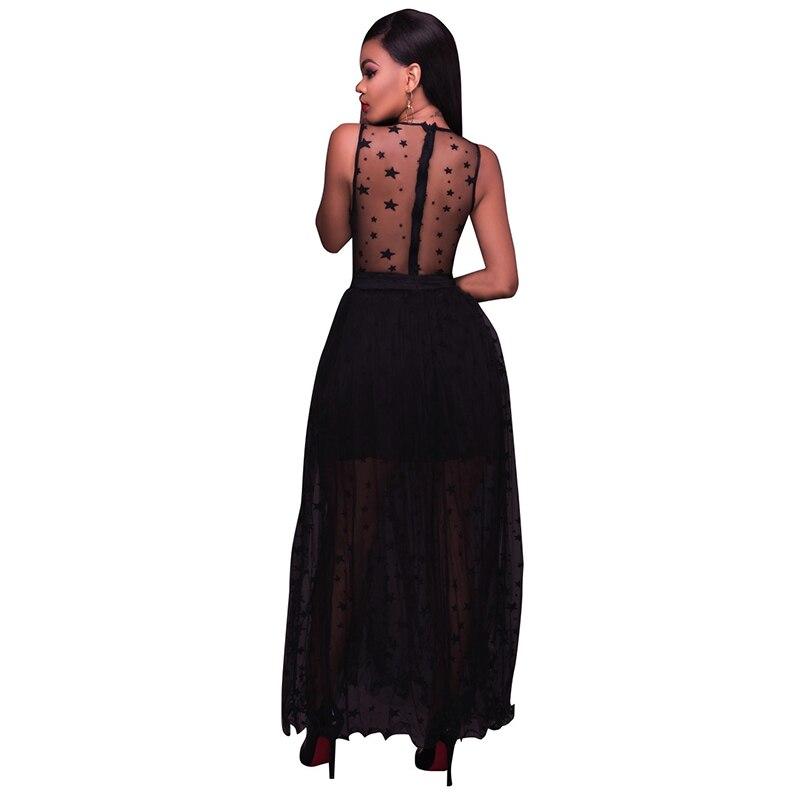 Misstyle Mode Frauen Aushöhlen Netz Kleid Stereoskopischen Decals ...