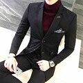 Qualidade 3 Peças Homens Terno Venda Quente de Comprimento Médio de Negócios Desgaste Formal Conjunto Blazer Plus Size Mens Slim Fit Terno Vestido Ternos Partido 5XL