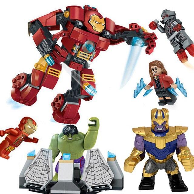Decool 7110 Fit Legoings 76031 Super Heróis Vingadores Thanos Imbecil Hulk Smash Set Ironman Mini Figuras 248 pcs Blocos Brinquedos presente
