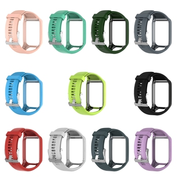 Silicone Replacement Wrist Band Strap For TomTom Runner 2 3 Spark 3 GPS Watch 2018 data sync usb charger clip charging cable for tomtom 2 3 runner golfer gps watch