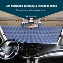 SHEATE Retractable Del Coche del parabrisas parasol Bloquear parasol cubierta Delantera/Rear window foil Cortina para proect Solar UV película