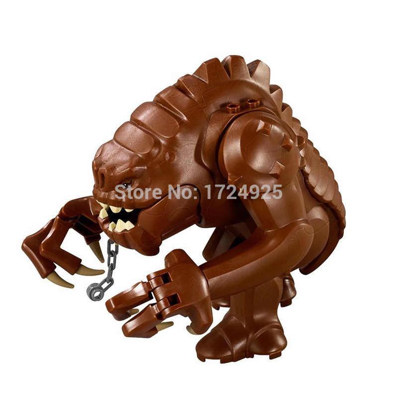 Animais única venda star wars rancor figura blocos de construção dewback conjunto legal monstro modelos tijolos brinquedos para crianças legoing