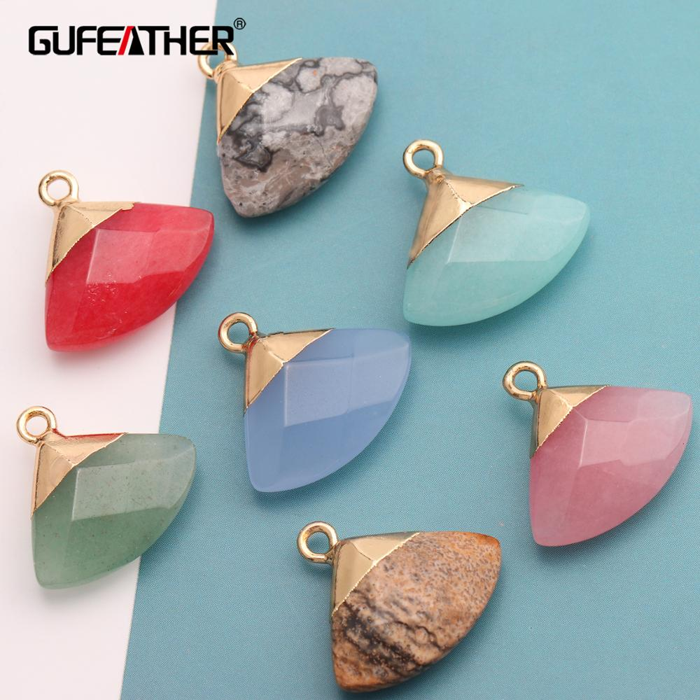 GUFEATHER M397,jewelry Accessories,natural Stone,diy Pendant,jewelry Findings,hand Made,diy Earrings,jewelry Making,6pcs/lot