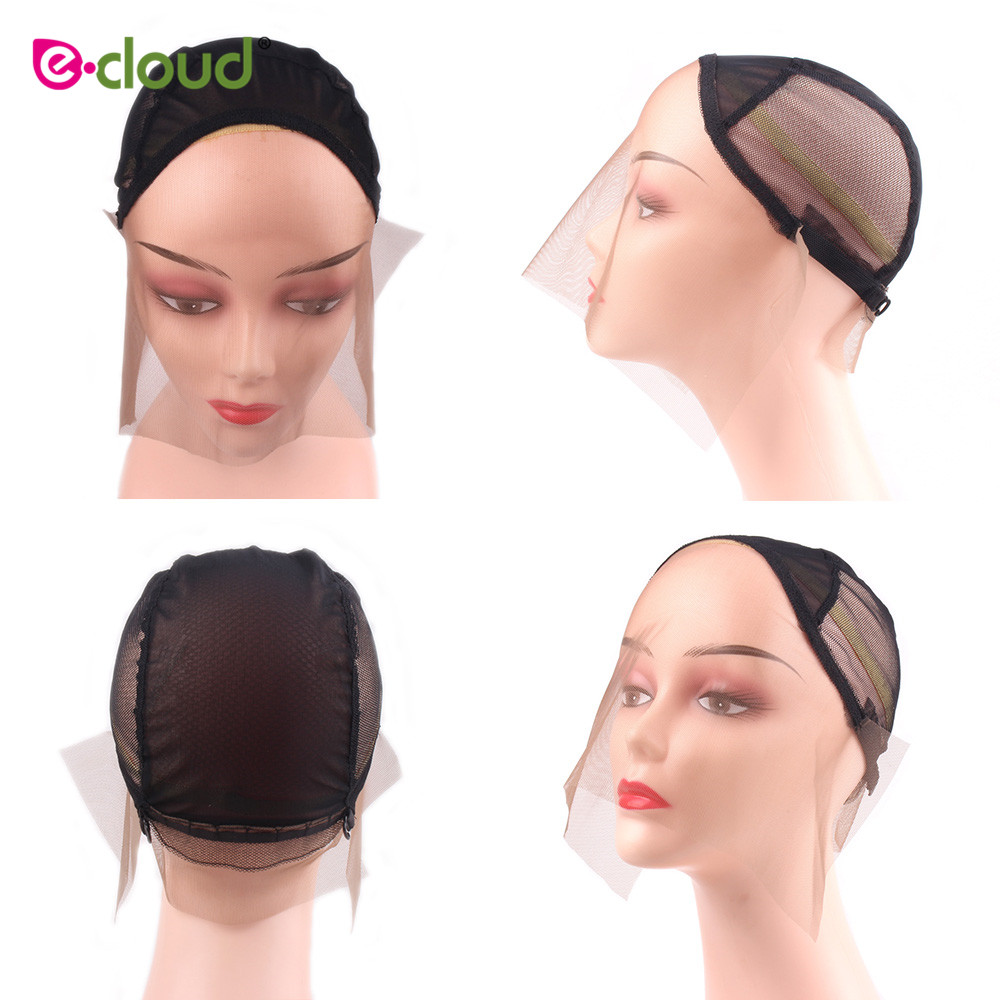1pcs/bag Black Swiss Lace Front Wig Caps For Making Wigs With Adjustable Strap Weaving Cap Tools Hair Net Hairnets Front Wig Cap Hairnets Hair Extensions & Wigs