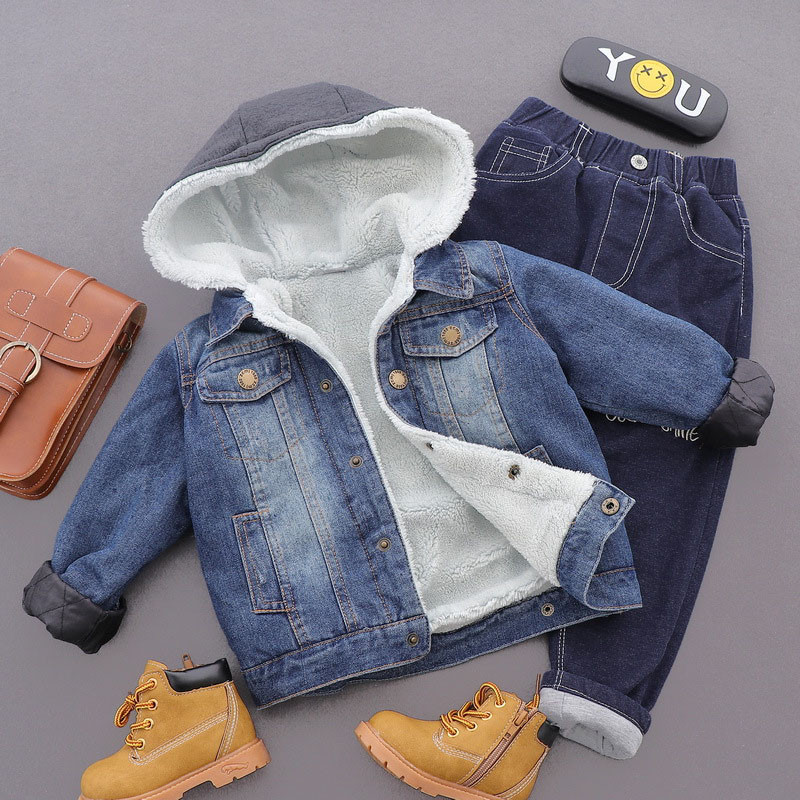 Denim Children Jackets for Boys Clothes 2017 Winter Baby Girl Jackets warm Kids Coat Hooded Boys Outerwear &Coats a15 kids down coats and jackets 2018 boys long for youth children teenage winter coat outerwear girl thick warm fur hooded parka