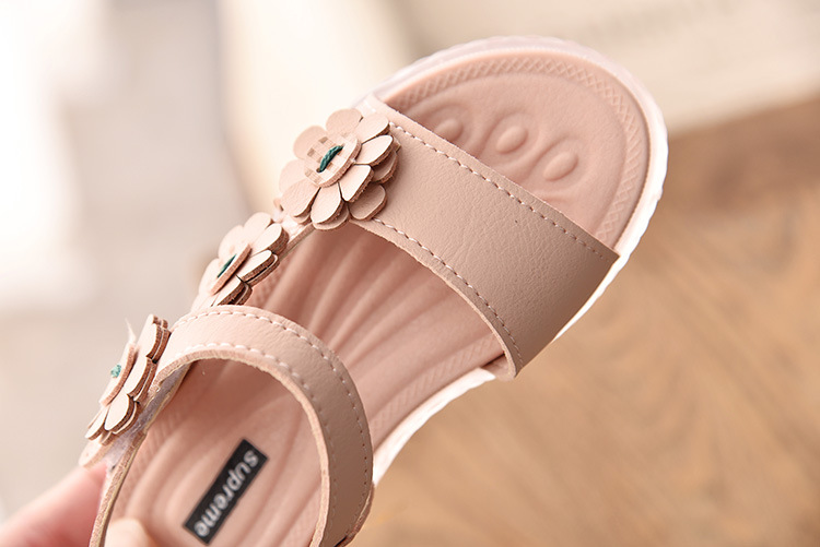 Sandals Summer Princess Shoes Bowknot Open Toe for Girl Soft Botom Student Beach