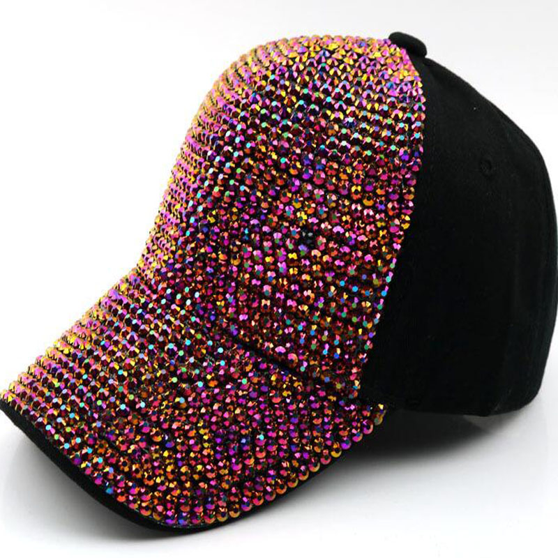 White Fashion Children Rhinestone Hats Luxury Boy Baseball Cap Bling Diamond Cap Swag Casquette Girl Snap Back Gorras