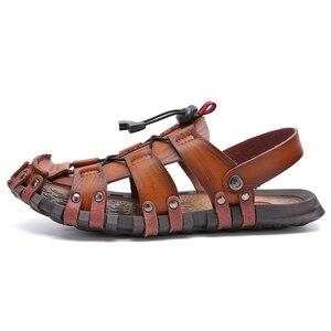 Image 2 - ZUNYU ฤดูร้อนใหม่รองเท้าแตะชายรองเท้าแตะหนังผู้ชายรองเท้าแตะผู้ชายรองเท้าสบายๆสบายๆราคาถูกรองเท้าแตะ