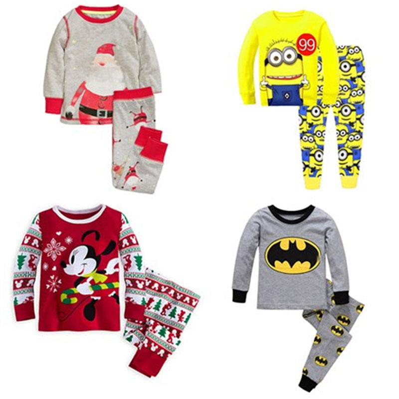2017 Kids Pijama Boys Pijamas Spiderman Mickey Pyjama Baby Boy Christmas Pajamas Pyjamas ...