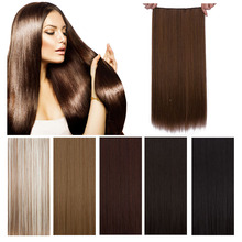 24inch 120g False Hair Synthetic straight  Nature Hair 5Clip In Hair Extensions Synthetic Hairpiece Artificial Mega Hair Apply