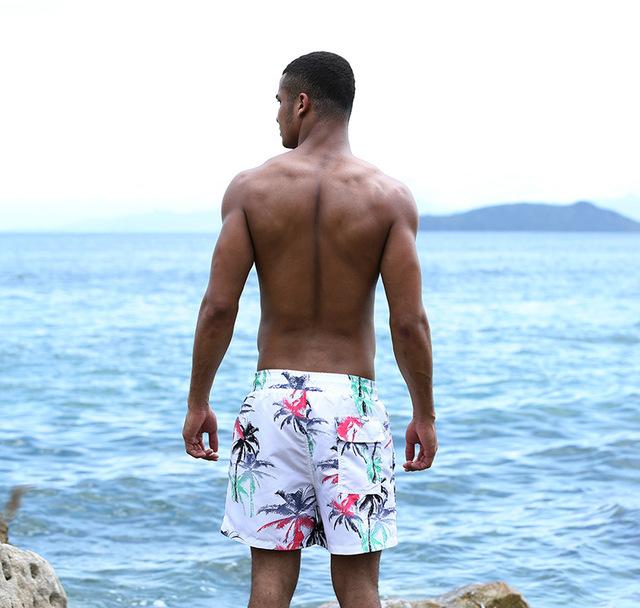 2018 Fashion Mens Board Shorts Summer Quick Dry Beach Shorts Casual Shorts Men Print Comfortable Board shorts Plus Size