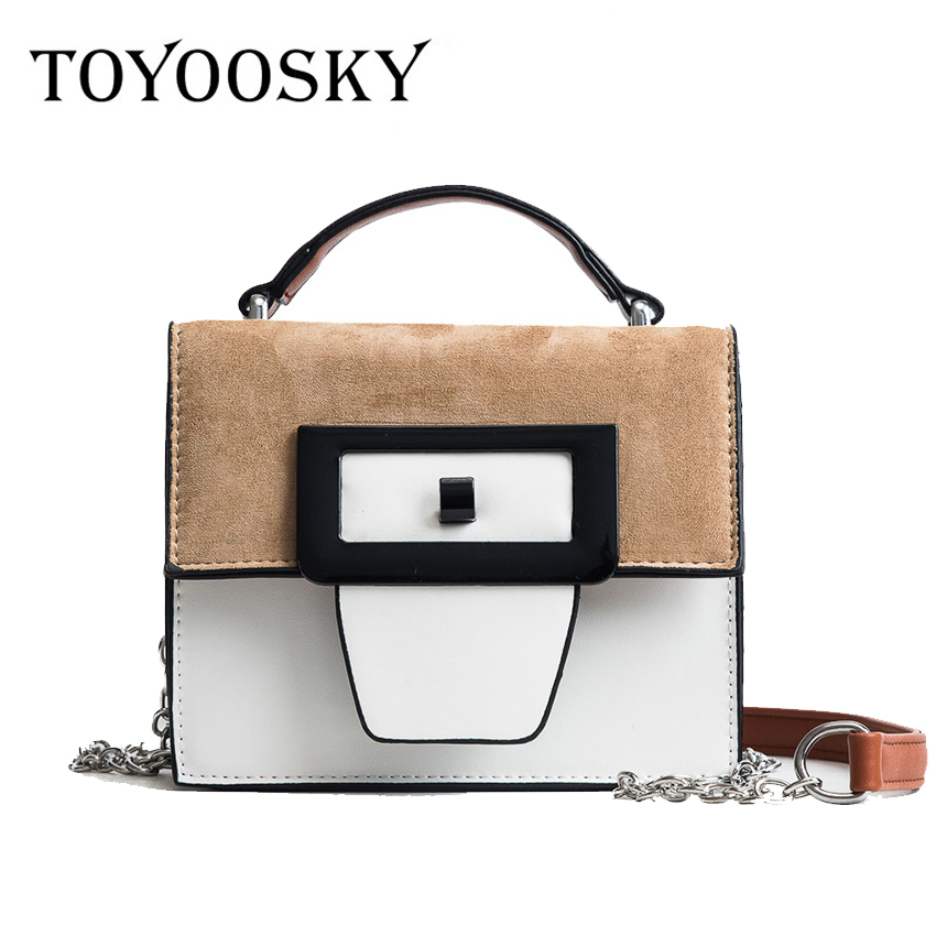 TOYOOSKY 2018 New Chains Strap Women Bag PU Leather Women Messenger Bags Crossbody Designer Ladies Shoulder Bag Bolsa Feminina