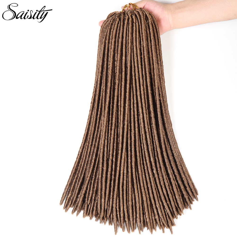"Saisity faux locs crochet hair synthetic hair dreadlocks jumbo braid kanekalon braiding hair 14"" 18"" 24roots/pack havana mambo"