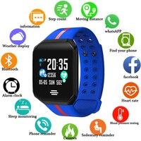 GEJIAN 2019 New Women Sport Waterproof Watch Blood Pressure Heart Rate Monitor Smart Watch Men Fitness tracker pedometer Watch
