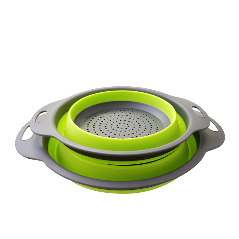 Foldable Drain Basket Colander Fruit Vegetable Washing Basket Strainer Collapsible Drainer With Handle Kitchen Storage Tools