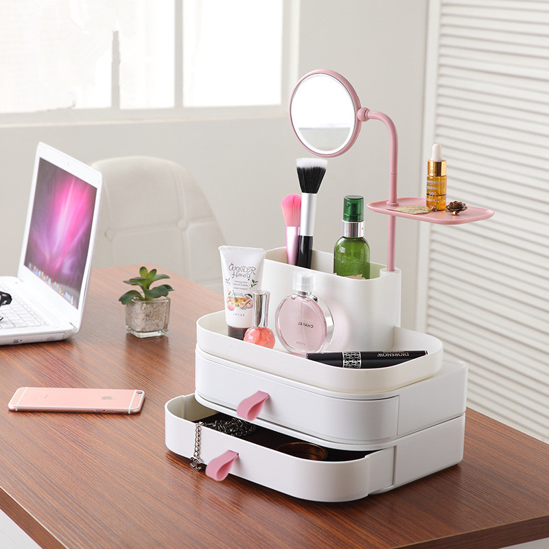 Cosmetic Storage Boxes Multifunction Makeup jewelry Finishing box Desktop Sundries Storage Container Makeup Organizer Supplies