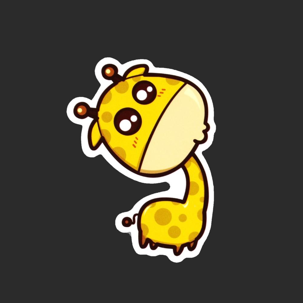 Funny Cartoon Animal Giraffe Single Sticker Tide Brand