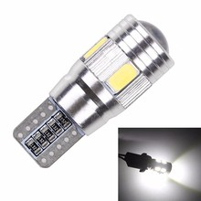 DIC 10pcs Super Quality 6LED SMD 5630 Error Free 194 168 W5W parking lights Car LED T10 CANBUS Car-styling Side Light