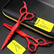 4 colors barber scissors 6.0 inch Jason hair scissor Professional best seller