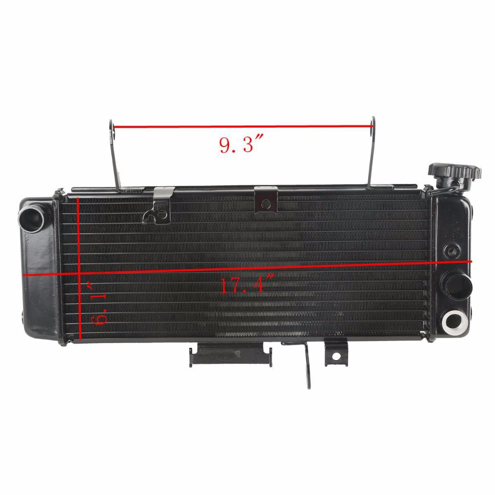 New Motorcycle Replacement Aluminum Radiator Cooler For Suzuki SV650 SV 650 2003-2004 N K3 - K4 03 04 popular led light bar spot flood combo beam offroad light 12v 24v work lamp for atv suv 4wd 4x4 boating hunting