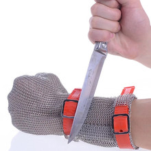Safety Cut Proof Protect Work Glove 100% Stainless Steel ANSI  Anti Cut Resistant Metal Mesh Butcher Gloves цена