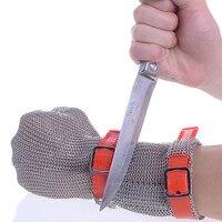 Sicherheit Cut Proof Schützen Arbeit Handschuh 100% Edelstahl ANSI Anti Cut Beständig Metall Mesh Butcher Handschuhe-in Schutzhandschuhe aus Sicherheit und Schutz bei