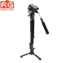 Yunteng vct-288 cámara monopod y unipod soporte y fluid pan head para canon nikon sony