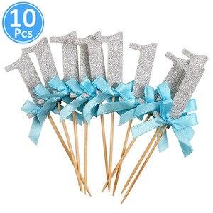 Image 4 - Primo Compleanno di Un Cupcake Topper 1st Anni Della Ragazza del Ragazzo FAI DA TE Decorazioni Del Partito 1 Anno di Età Del Bambino Di Compleanno Decorazioni Bambini