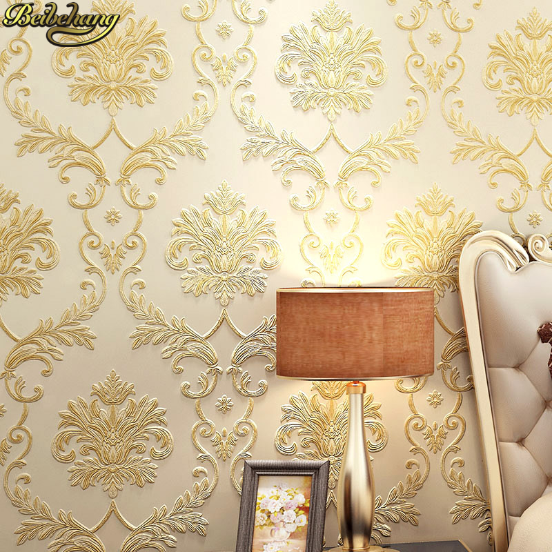 beibehang Fabric Mural roll modern flock wall paper papel de parede 3D bedroom mural wallpaper for living room Home Decoration beibehang roll papel mural modern luxury pattern 3d wall paper roll mural wallpaper for living room non woven papel de parede