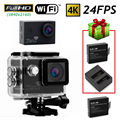 Free shipping!SJ8000 4K 24FPS WiFi Sport Action Car Camera DVR+Free USB Dual Charger/Battery