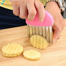 Joyathome Multi-Functional Stainless Steel Wave French Fries Cutter Vegetable Potato Knife Colorful Kitchen Gadget