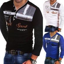 3a13f9e37e5 Camiseta Polo de manga larga con personalidad de moda para hombre, nueva  camiseta polo de algodón para hombre, ropa 2018, camise.