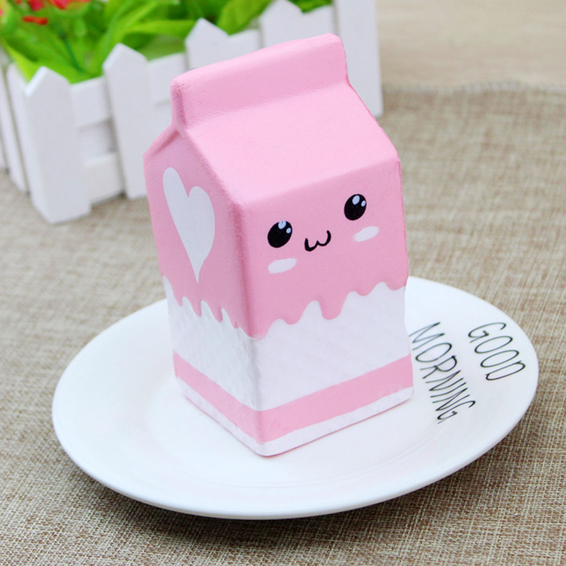 Kawaii Cute Soft Squishy Charms Milk Bag Toy Slow Rising Milk Box Kid Fun Gift For Adults Relieves Stress Anxiety Squeeze Toys Cellphones & Telecommunications