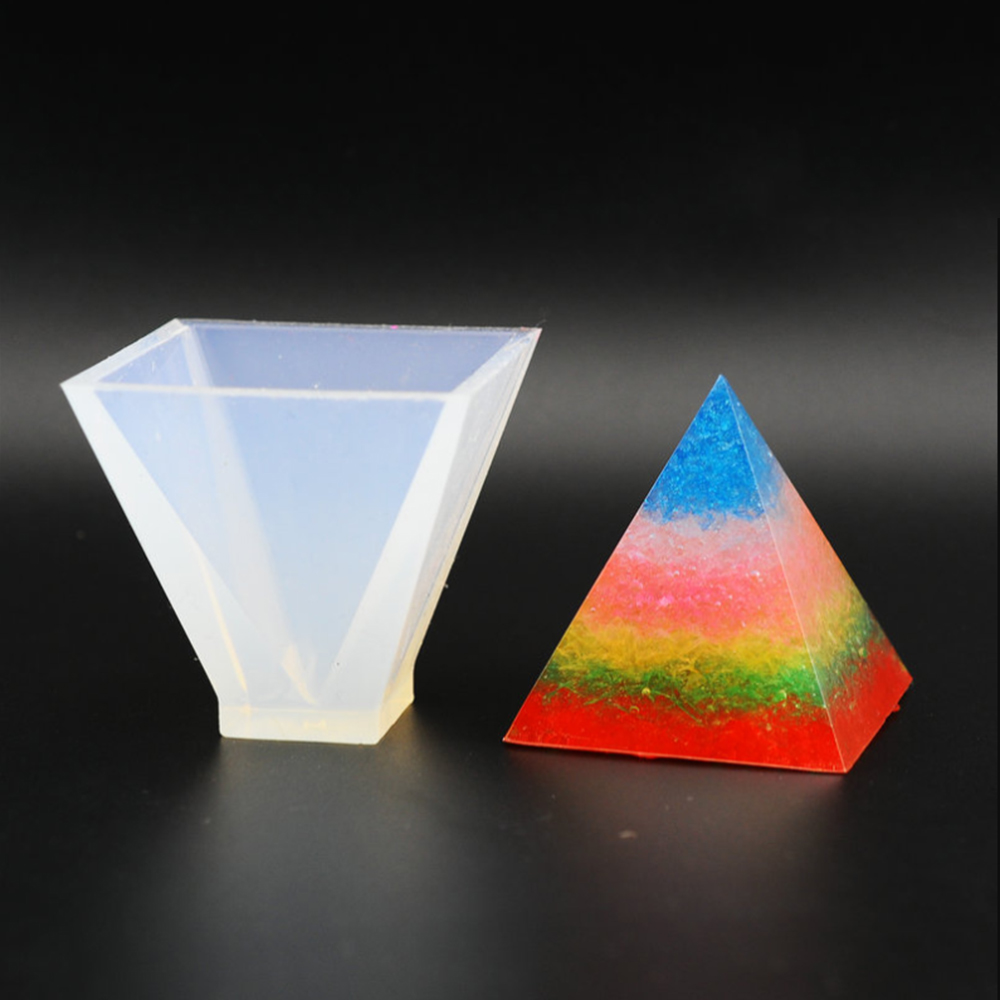 1Pc Creative Pyramid Silicone Mould Resin Home Decorative Mold Craft Jewelry Making Mold White DIY Candle Making Kits
