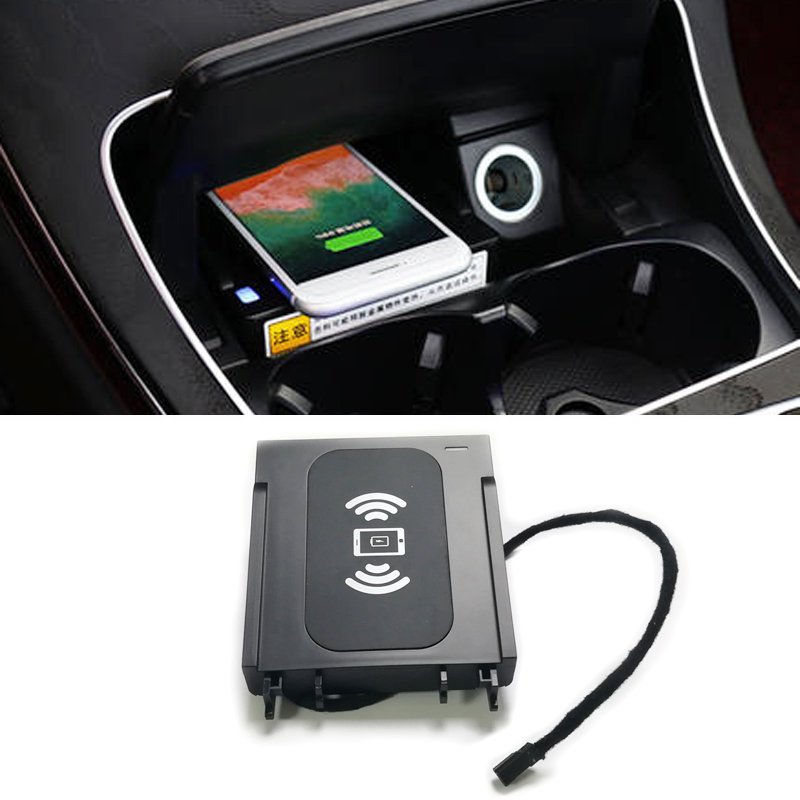 For Mercedes Benz W205 C180 C200 GLC C Class QI wireless charging phone charger fast charging