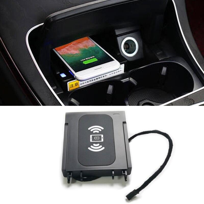 Pour Mercedes Benz W205 C Classe QI sans fil chargeur charge rapide cas center console support pour téléphone accessoires pour iPhone 8 X XS