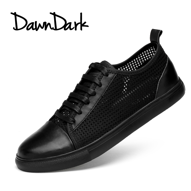 Casual Shoes for Mens Spring Summer Male Genuine Leather Flat Walking Shoes Black Lace-Up Man Fashion Luxury Footwear Big Size 2018 spring male genuine leather eagle print 56 60cm black brown baseball caps for man casual street glof gorras dad hat ry119