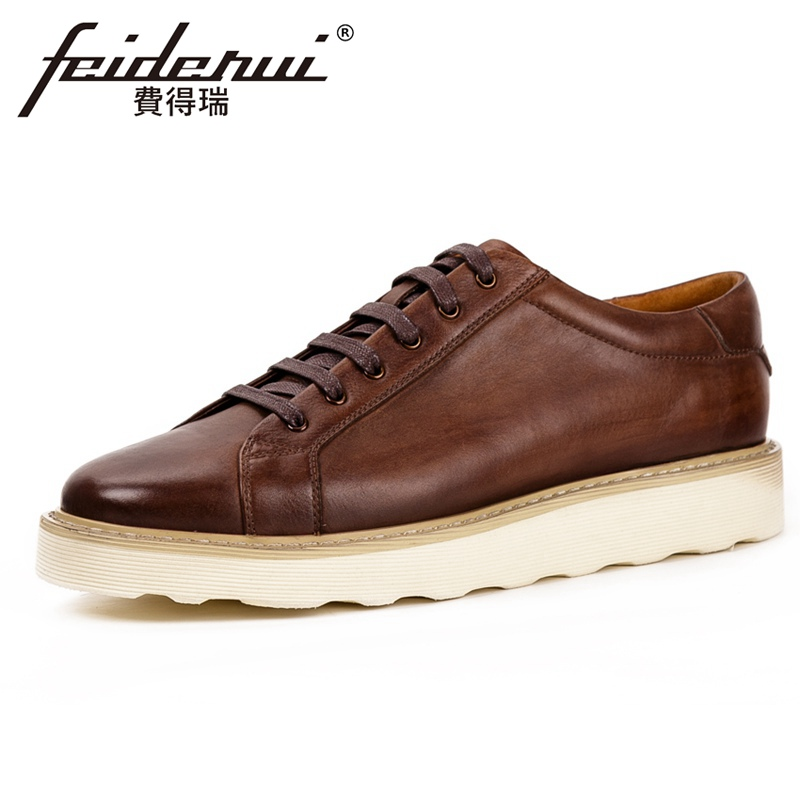 New Classic Genuine Leather Mens Comfortable Derby Footwear Round Toe Lace up Handmade Man Flat Platform Casual Shoes KUD215New Classic Genuine Leather Mens Comfortable Derby Footwear Round Toe Lace up Handmade Man Flat Platform Casual Shoes KUD215