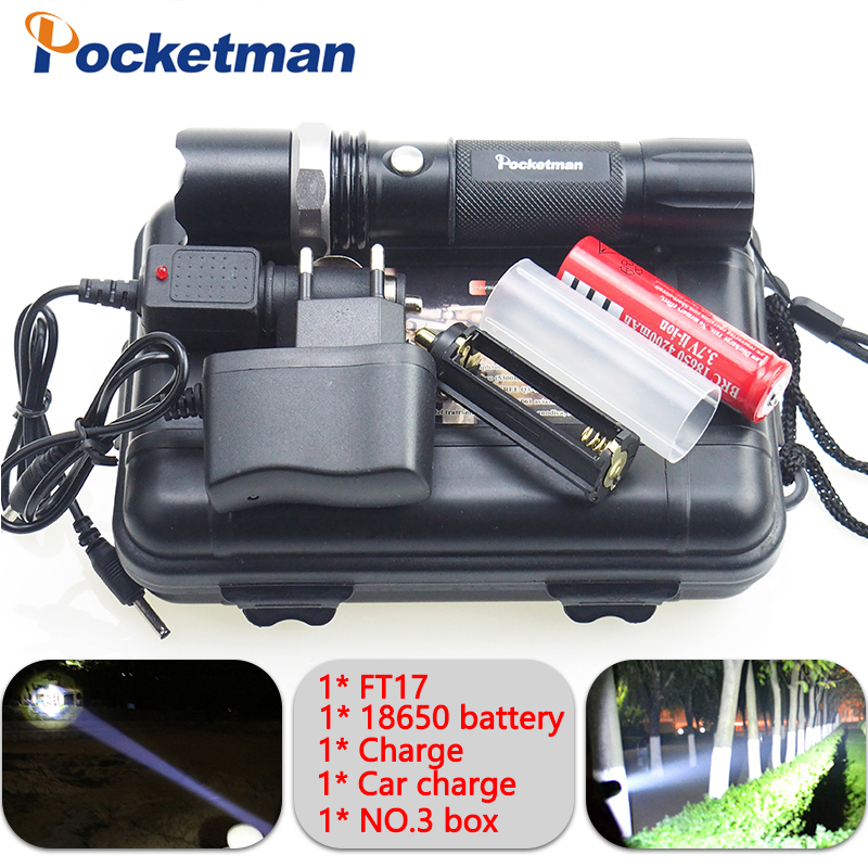 4000LM LED Flashligh CREE XM-L T6 linterna led Waterproof Zoomable zaklamp Torch 5 modes 18650 Rechargeable Battery or AAA zk93 rechargeable 2000lm tactical cree xm l t6 led flashlight 5 modes 2 18650 battery dc car charger power adapter