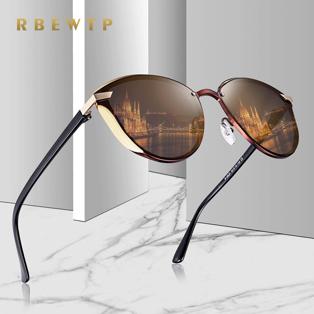 56470d5991 RBEWTP 2019 mujeres vintage de ojo de gato gafas de sol mujer marca  diseñador de moda ronda retro polarizadas espejo gafas de sol para las  mujeres