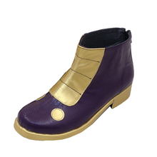 THE KING OF FIGHTERS KOF cos Kula Diamond boots shoes boot shoe purple Womens party Custom Halloween