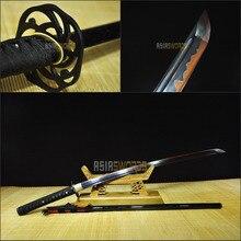 Free Sword Bag Full Tang Sharp Battle Ready Handmade T10 1095 Black Steel Clay Tempered Japanese Samurai Katana Ninja Sword #BHG