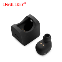 Hidden Invisible Earpiece Micro Mini Wireless Headset Bluetooth Earphone In Ear With Charging Box LJ-MILLKEY YZ109