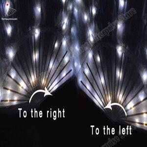 Image 5 - Nuova Danza Del Ventre di Seta Fan Velo LED Ventole Light up Shiny Pieghe Carnevale LED Ventole Oggetti di Scena Accessori di Prestazione Della Fase Costume