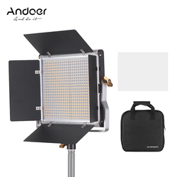 Andoer Professionele Led Video Light Lamp + Power Adapter + Kabel + Opbergtas 3200K-5600K 40W Verstelbare Helderheid 0-100