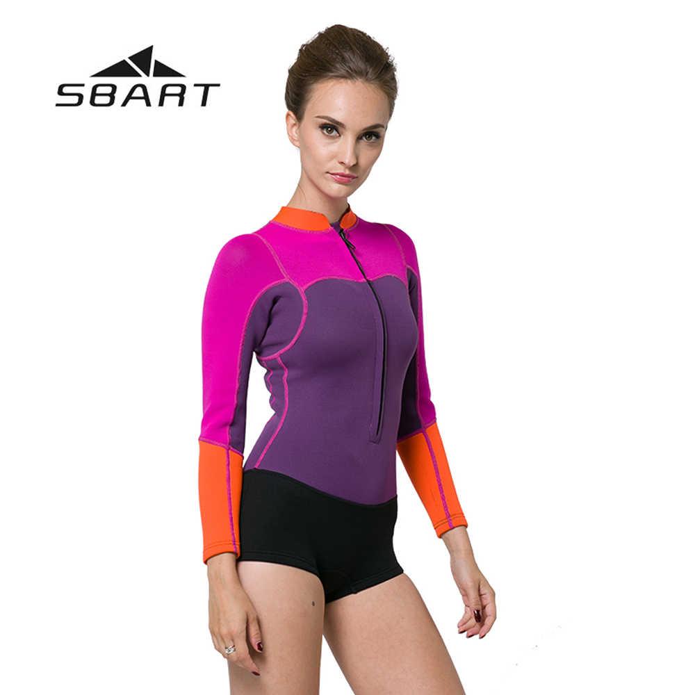 SBART 2mm neoprenu kobiet nurkowanie jeden-sztuka garnitur Kite Surfing kombinezon do nurkowania Shorty kombinezon kąpielowy aktywny wypoczynek hotel oferuje Windsurfing strój kąpielowy