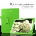 Caja de la tableta de samsung galaxy tab s2 9.7 t810/t815 litchi pu cubierta de cuero del envío libre
