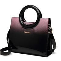 Famous brand luxury handbags designer quality patent leather messenger bag simple box shoulder handbag ladies office work totes