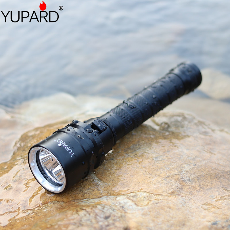 YUPARD 3X XML L2 LED T6 Diving Flashlight Torch Underwater camp Waterproof LED Flash Light+2* 2200mAh 18650 Battery +charger 2018 new led flashlight xml t6 xml l2 q5 waterproof 18650 battery touch camping bicycle flash light z94