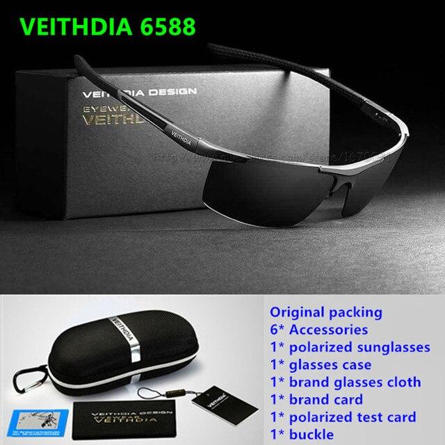 a63af1a87fd VEITHDIA HD Men Brand Designer Driving Polarized Sunglasses Glasses Goggles  Aluminum Magnesium oculos de sol Accessories 6588